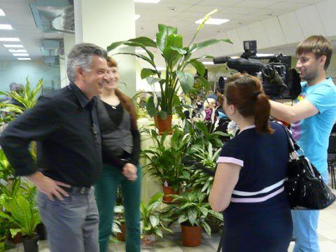Интервью для местного ТВ